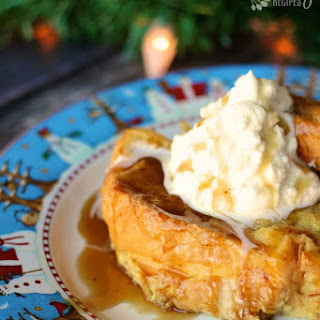 Egg Nog French Toast with Gingerbread Syrup.