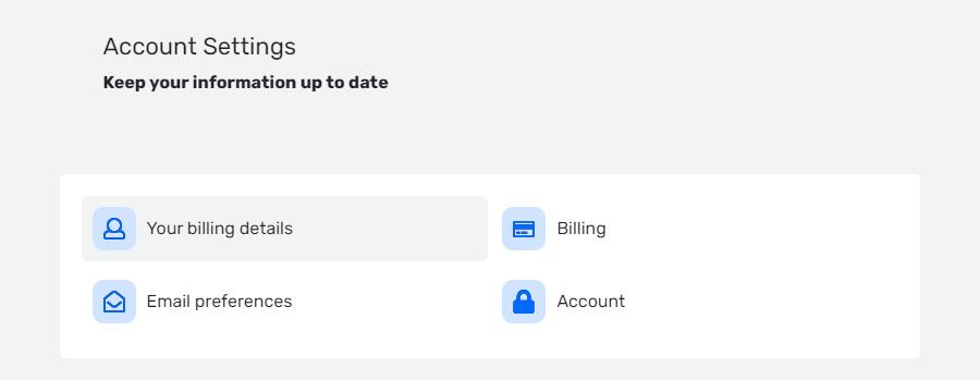 QUUU account settings