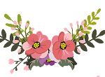 a brooch of flowers logo