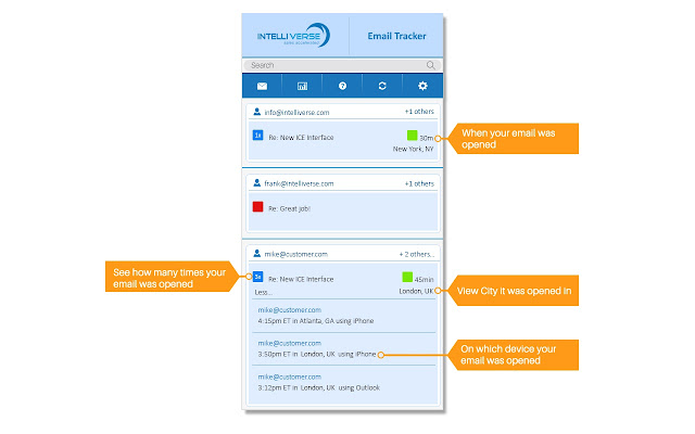 Intelliverse Email Tracker