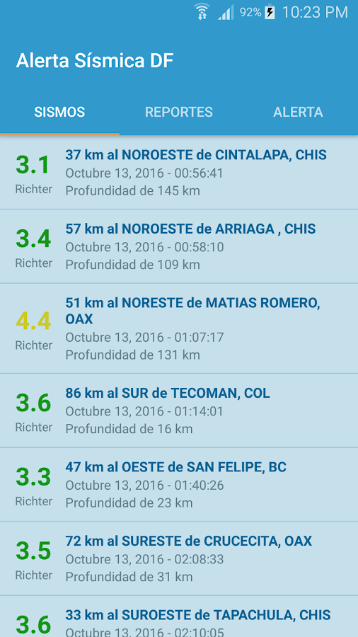 Alerta Sísmica DF- screenshot