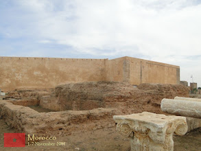 Photo: wall of the Kasbah Loudaya in Rabat