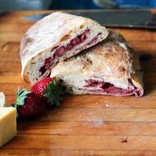 Roasted Strawberry Balsamic Ciabatta with Black Pepper