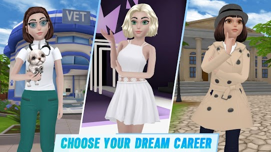 Virtual Sim Story: Dream Life MOD (Unlimited Gems) 2