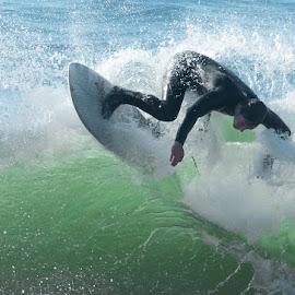 upside down by Kelley Hurwitz Ahr - Sports & Fitness Surfing