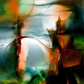 Antares Secret by Glen Sande - Painting All Painting ( modern, abstract, corel painter 2016, abstract art, expressionism, antares, conceptual )