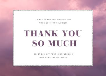 Your Constant Business - Thank You Card Template