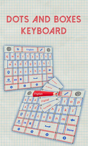 Dots and Boxes Keyboard Theme