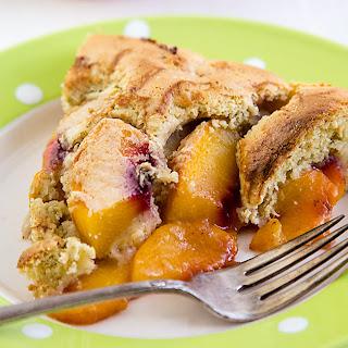 Vegan Gluten-Free Peach Cobbler.