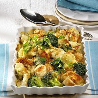 Chicken, Broccoli and Cauliflower Bake.