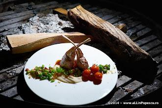 Photo: Cotlete de Berbecut cu Piure de Fasole Alba si Fasole Verde trasa la Tigaie cu Bacon