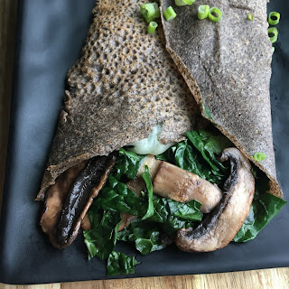 Savory Kale and Mushroom Crepe Recipe
