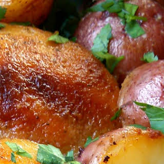 Buttermilk Ranch Roasted Chicken with Potatoes.