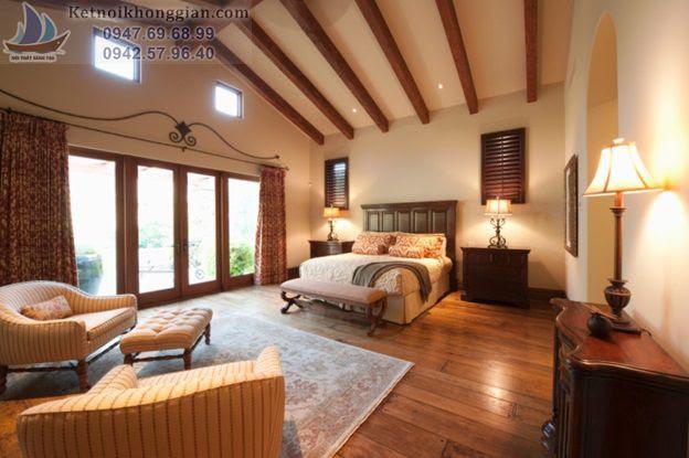 thiết kế phòng ngủ ko dùng màu đỏ
