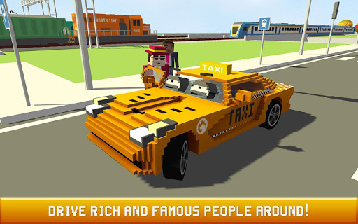 Blocky Taxi Driver: City Rush 1.3 screenshots 1