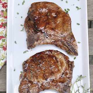 Balsamic Glazed Grilled Pork Chop #ChopGriller