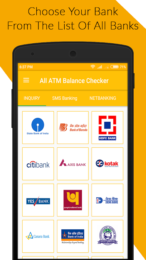 Screenshots of All ATM Balance Checker for iPhone