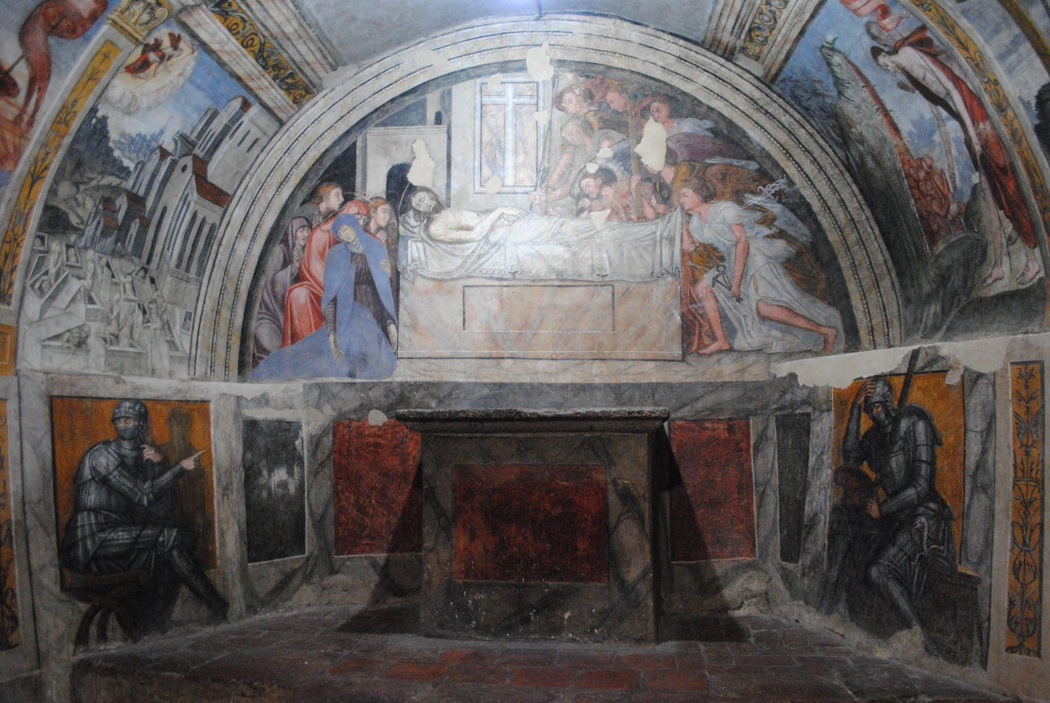 My Photos: Italy -- Mosaics -- Sicily -- Cefalù -- Castelbuono -- Chiesa di Matrice Vecchia -- Crypt Frescoes
