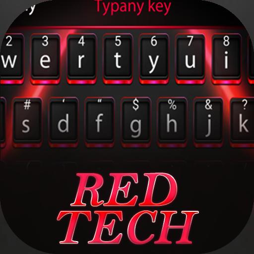 Red Tech Theme&Emoji Keyboard