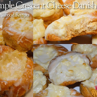 Simple Crescent Cheese Danishes.