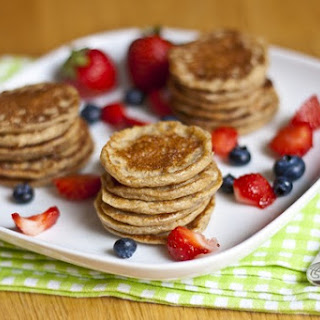 Mini Oatmeal Cottage Cheese Banana Pancakes