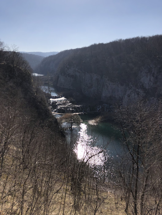 View from above of Plitvice Lakes National Park