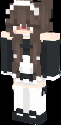 a cute maid with brown hair