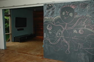 Photo: Mobile wall with a fun chalkboard surface