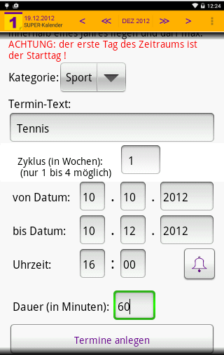 SUPER-Kalender- screenshot