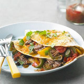 Roast Beef Quesadillas.