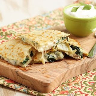 Spinach Artichoke and Chicken Quesadilla Recipe