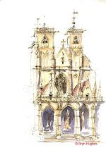 Photo: Semur en Auxois - Church front