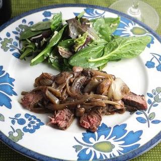 Grilled Porterhouse Steak with Mushroom Sauce