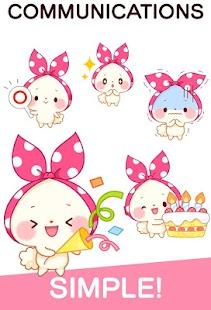 Mochizukin-chan Stickers Free - náhled