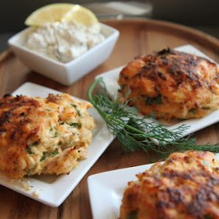 Salmon Cakes with Lemon-Herb Sauce {New Market District Grocery in Indiana}