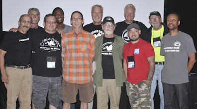 Photo: The current board (left to right): Tarak Kauff, Mark Foreman, Tom Palumbo, Kourtney Mitchell, Patrick McCann, Barry Ladendorf (president), Willie Hagar, Gerry Condon (vice president), Jason Cardenas, and John Heuer, and executive director Michael McPhearson. Board members not pictures: April Adams and Joey King