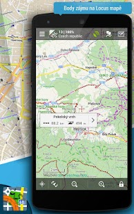 Locus Map Pro - outdoor GPS navigace a mapy - náhled