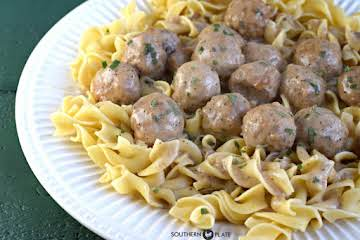 Crock Pot Salibury Meatballs
