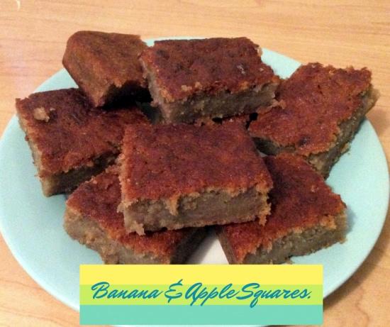 Banana and Apple Cake Squares Recipe
