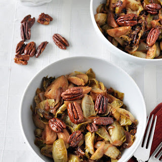 Brussels Sprouts, Caramelized Onions and Pecans