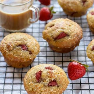 Strawberry Vanilla Yogurt Muffins.
