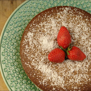 Chocolate Cake with Carob and Coconut.