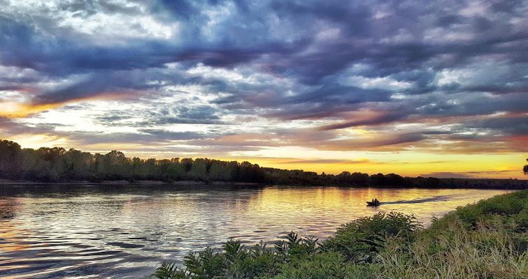 Tramonto sul fiume di KrissPad
