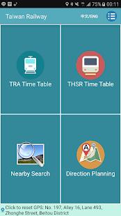 Taiwan Railway Timetable - náhled