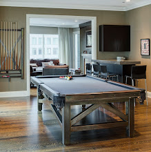 Photo: http://dorsetcustomfurniture.blogspot.com/2012/11/the-new-pool-table-is-finished.htmlalso herehttp://www.jamieschachtel.com/transitional/6p6nezj06amb45j583d0kkdamahar4