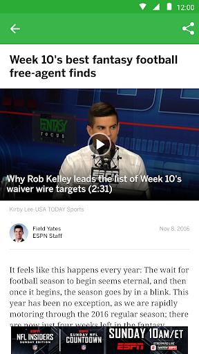 ESPN Fantasy Sports screenshot 6