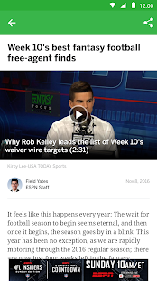 ESPN Fantasy Sports- screenshot thumbnail