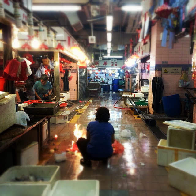 Hong Kong, Wet Market,  香港, 街市