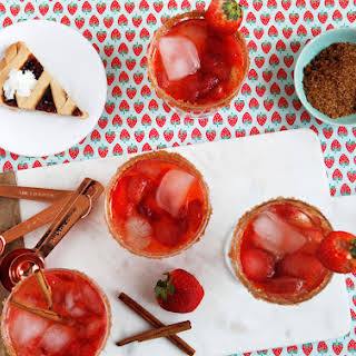 Strawberry Rhubarb Pie Cocktail.