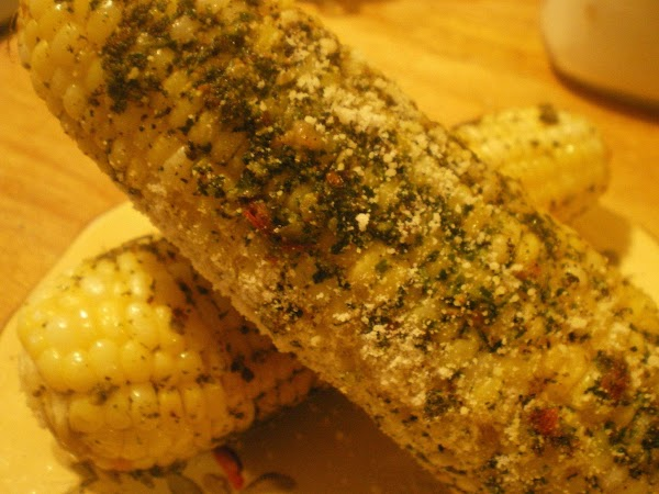 Roasted Corn With Pesto And Parmesean Recipe